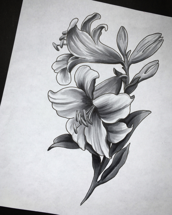 Tattoo Lily by Iris van der peijl