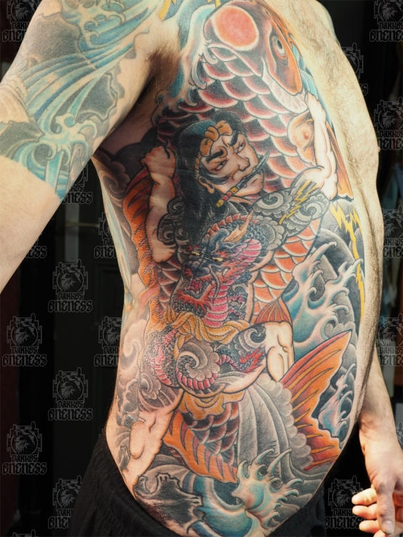 Tattoo Japanese rib by Darko groenhagen