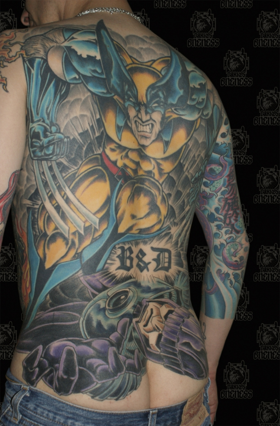 Comic wolverine darko oneness tattoo