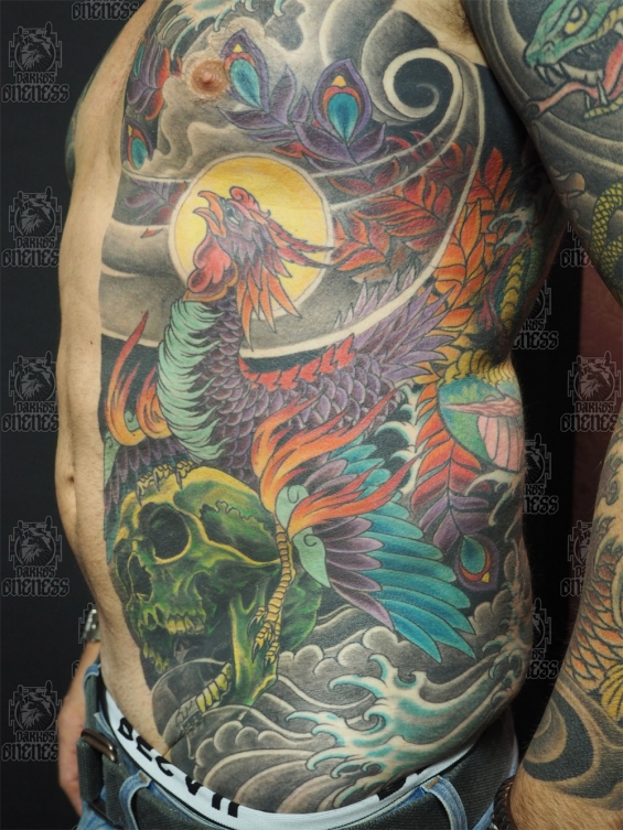 Tattoo Japanese ribs by Darko groenhagen
