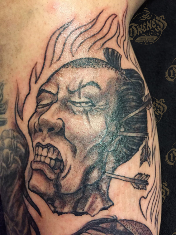 Tattoo Japanese namakubi by Darko groenhagen