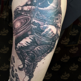 Tattoo Astronaut by Darko groenhagen