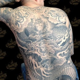 Tattoo Black and grey backpiece by Darko groenhagen