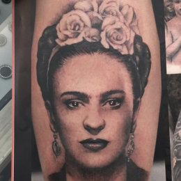 Tattoo Frida kahlo by Madeleine hoogkamer
