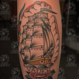 Tattoo Ship by Vincent penning