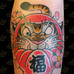 Tattoo Tiger daruma by Sjoerd elstak