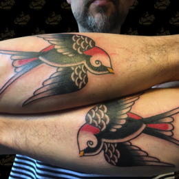 Tattoo Swallows by Sjoerd elstak