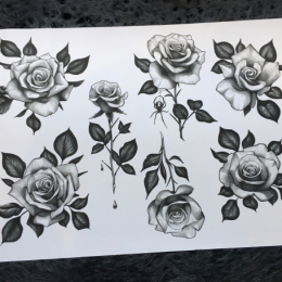 Tattoo Roses by Iris van der peijl