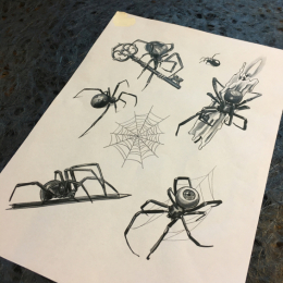 Tattoo Spider flash by Iris van der peijl