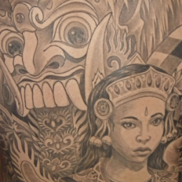 Tattoo Indonesian and indian indonesian backpiece by Darko groenhagen