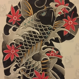 Tattoo Koi painting by Vincent penning