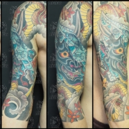 Tattoo 34 hannya by Darko groenhagen