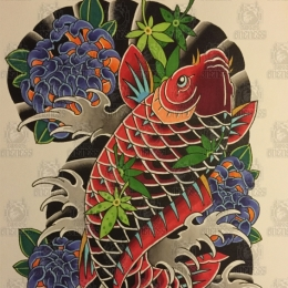 Tattoo Koi no3 by Vincent penning