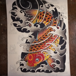 Tattoo Koi no 4 by Vincent penning