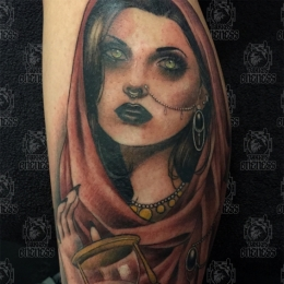 Tattoo Gypsy woman by Madeleine hoogkamer