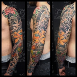 Tattoo Seasons sleeve by Vincent penning