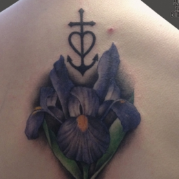 Tattoo Iris by Madeleine hoogkamer