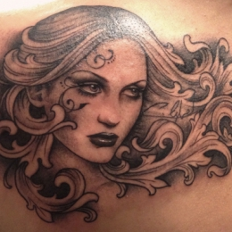 Tattoo Ornament girl by Madeleine hoogkamer