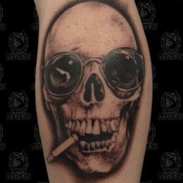 Tattoo Skull by Madeleine hoogkamer