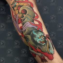 Tattoo Japanese ghost by Vincent penning