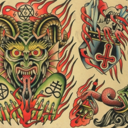 Tattoo Evil flash by Vincent penning