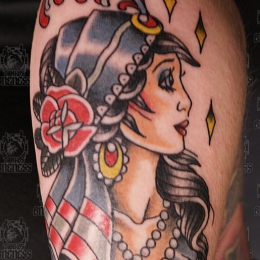 Tattoo Gipsy print by Vincent penning