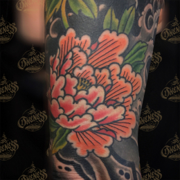 Tattoo Japanese flower by Vincent penning