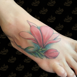 Tattoo Realistic flower by Pieter pas