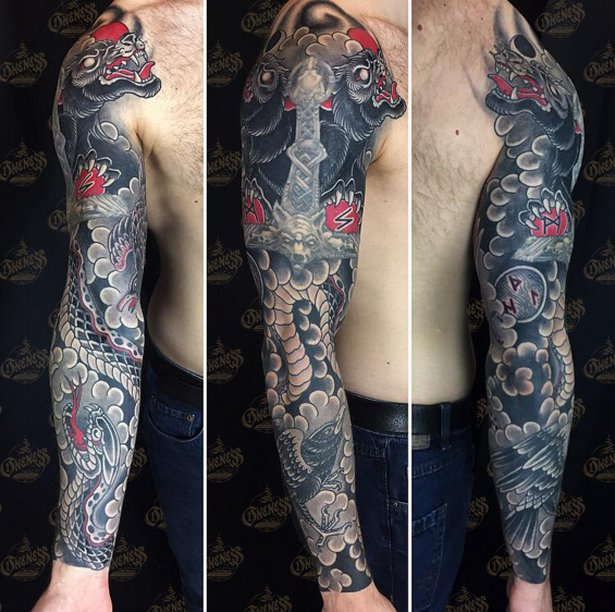 Viking Arm Tattoo By Guests Darko S Oneness