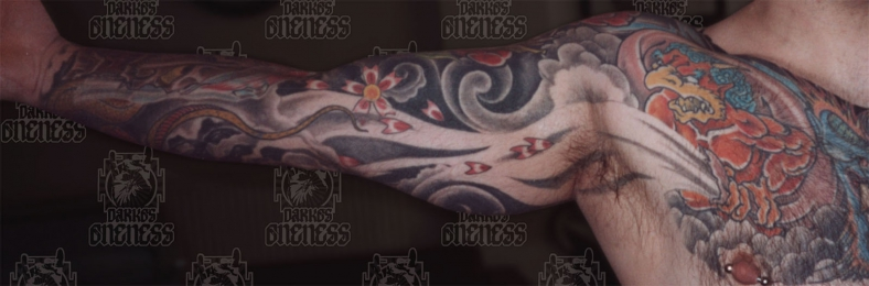Tattoo Japanese tengu by Darko groenhagen