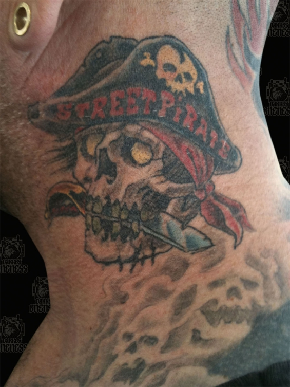 Tattoo Skulls street pirate by Darko groenhagen