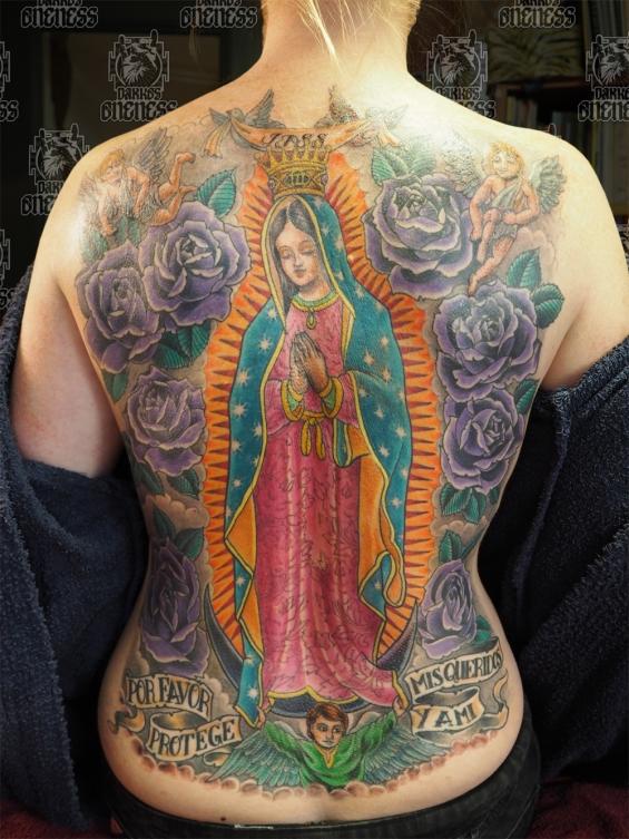 Holy mary backpiece tattoo by darko groenhagen darko 39 s for Holy mary tattoo