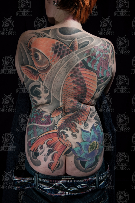 Tattoo Backpiece koi by Darko groenhagen