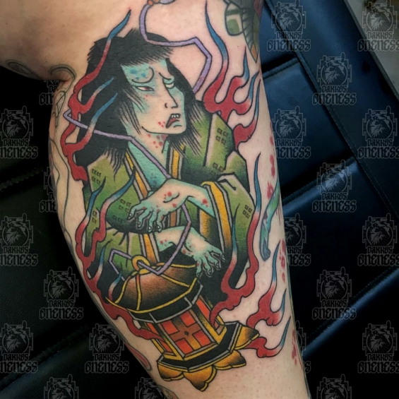 Japanese Ghost Tattoo By Vincent Penning Darkos Oneness