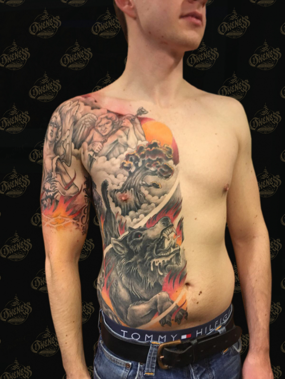 Tattoo Half torso by Pieter pas