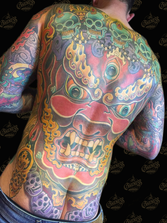 Darko tibetan backpiece tattoo