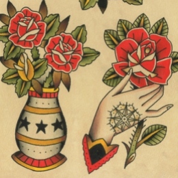 Tattoo Roses flash by Vincent penning