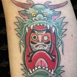 Tattoo Daruma dragon by Sjoerd elstak