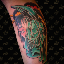 Tattoo Hannya mask by Guests