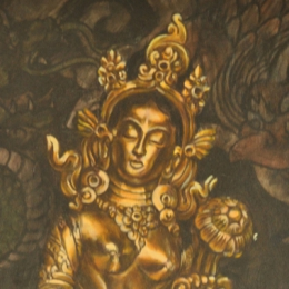 Tattoo Tibetan golden tara painting by Darko groenhagen