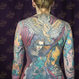 Tattoo Sorceress backpiece by Darko groenhagen
