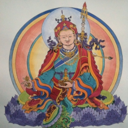 Tattoo Tibetan guru rinpoche painting by Darko groenhagen
