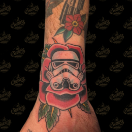 Tattoo Stormtrooper rose by Sjoerd elstak