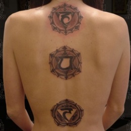 Tattoo Indonesian and indian chakras by Darko groenhagen