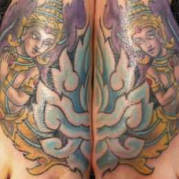 Tattoo Indonesian and indian full colour by Darko groenhagen