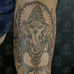 Tattoo Indonesian and indian ganesha arm by Darko groenhagen