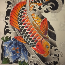 Tattoo Koi 2 by Vincent penning