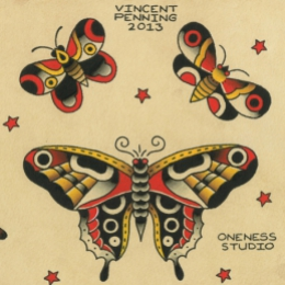 Tattoo Butterflies flash by Vincent penning