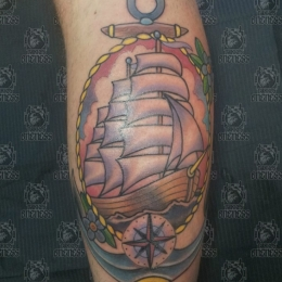 Tattoo Ship by Pieter pas