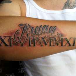 Tattoo Romantype by Pieter pas